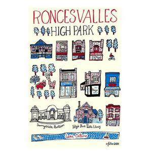 Roncesvalles High Park Tea Towel