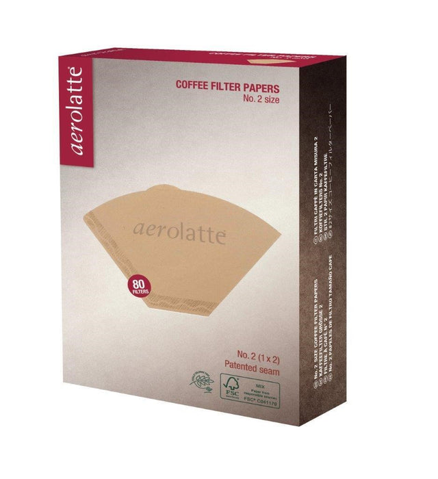 Aerolatte Coffee Filter Paper Unbleached - 2 Cup