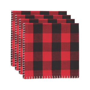 NOW Designs Holiday Print Napkins, Set of 4