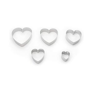 Fox Run Heart Cookie-Cutter - Set of 6