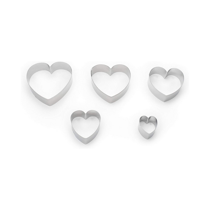 Fox Run Heart Cookie-Cutter - Set of 5