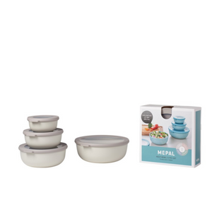 Mepal Cirqula Multi Bowl - Set of 4 bowls with lids