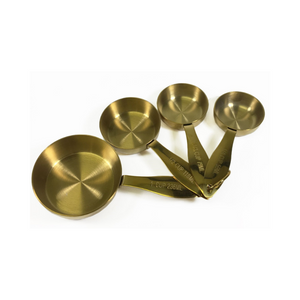 Maison Plus Gold Measuring Cups - Set of 4