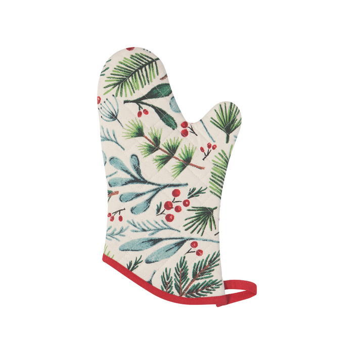 NOW Designs Holiday Oven Mitt - Bough & Berry