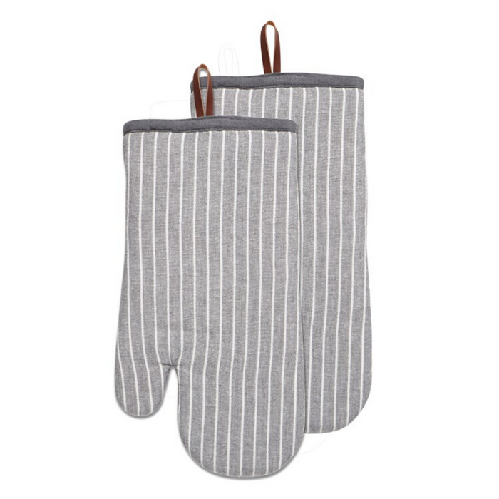 Harman Chambray Stripe Oven Mitt, Set of 2