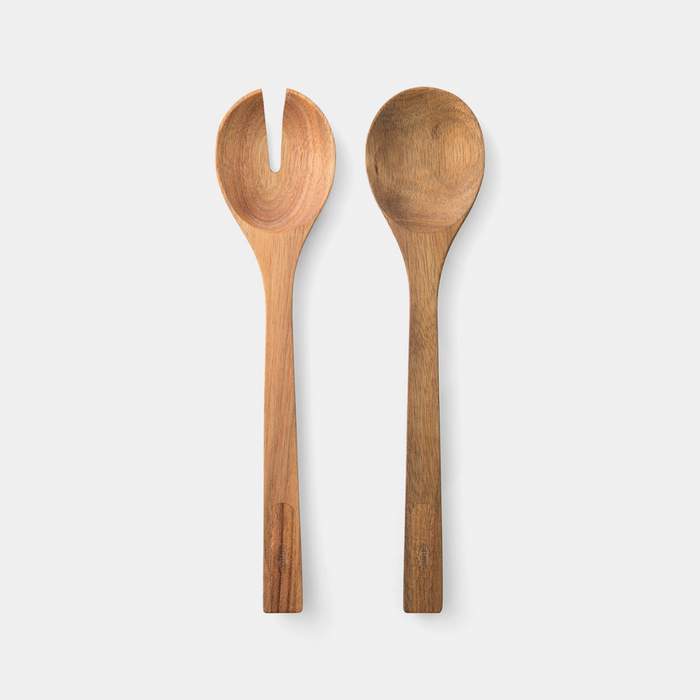 Chef'n Magnetic Acacia Salad Serving Set