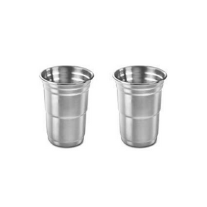 Outset Stainless Steel Party Cups, Set of 2