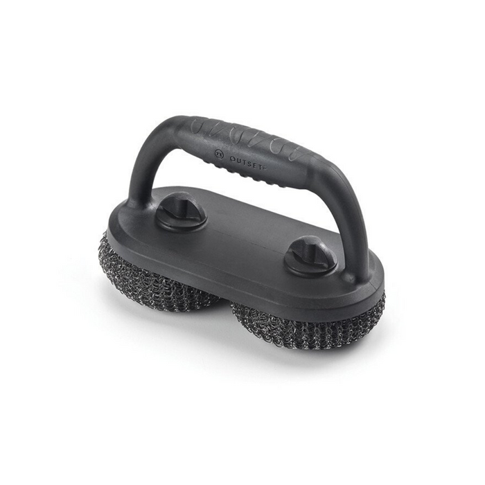 Outset Mesh Scrubber Grill Brush with Short Handle