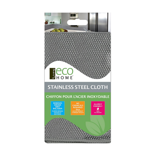 Living Eco Home Microfibre Stainless Steel Cleaning Cloth