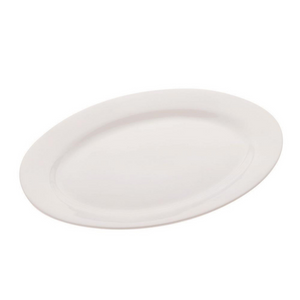 White Basics Oval Platter