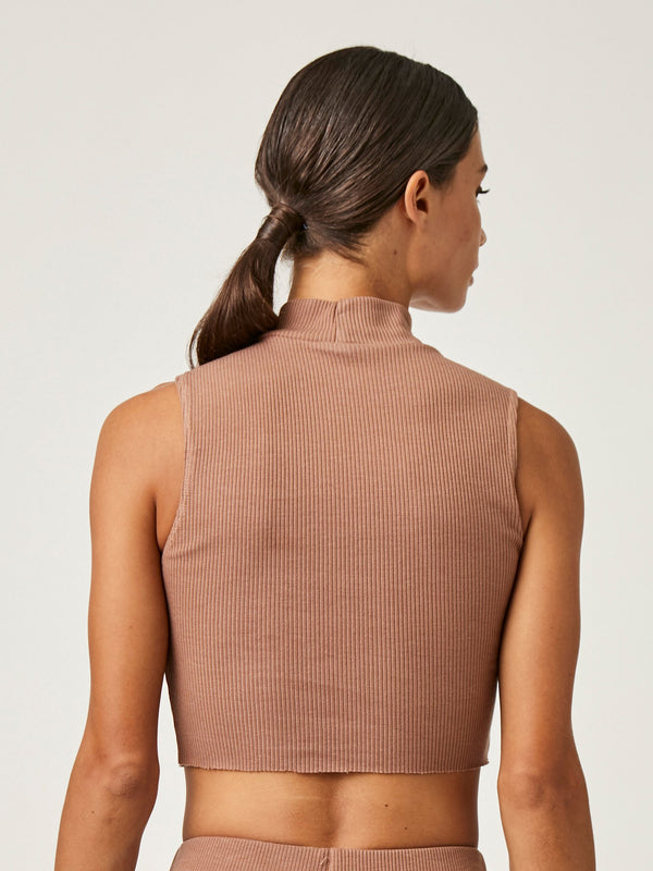 CROP TURTLENECK TANK