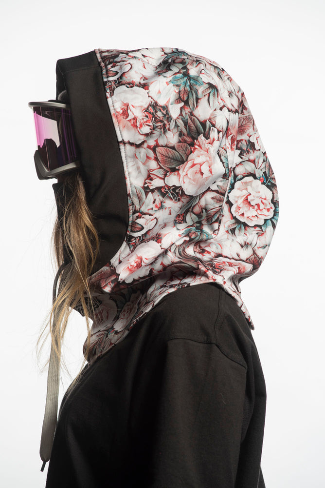 floral snowboarding technical hood