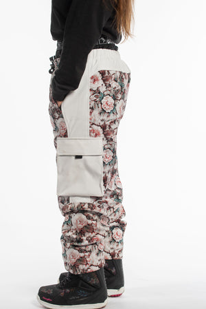 Load image into Gallery viewer, floral snowboarding pants