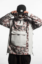floral snowboarding technical jacket