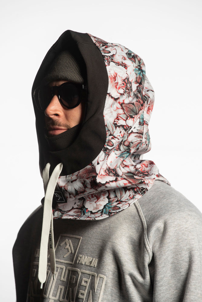 Load image into Gallery viewer, floral snowboarding technical hood
