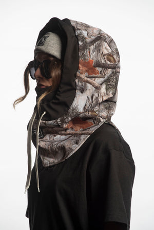 Load image into Gallery viewer, Forest camo technical riding hood