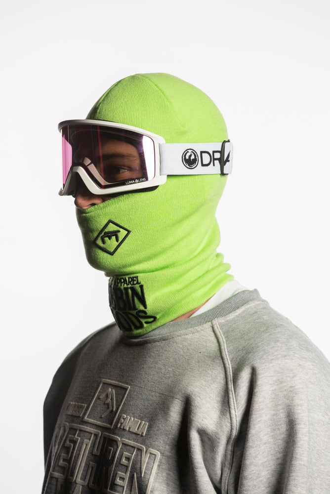 Load image into Gallery viewer, green snowboarding facemask