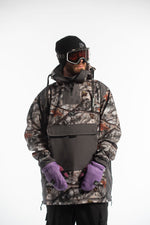 mens snowboarding outerwear forest camo