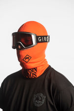 orange winter balaclava