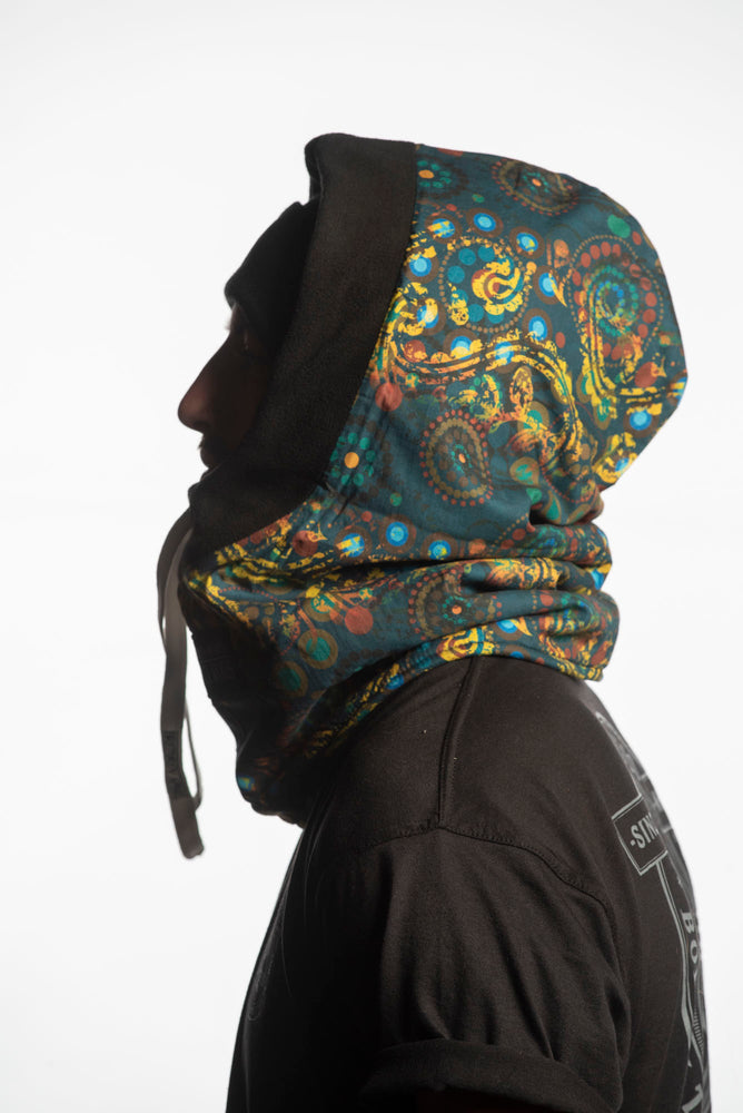 printed fleece winter balaclava