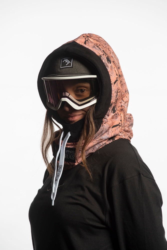Load image into Gallery viewer, pink fleece snowboarding hood