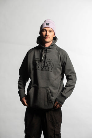 Load image into Gallery viewer, snowboard hoodie charcoal
