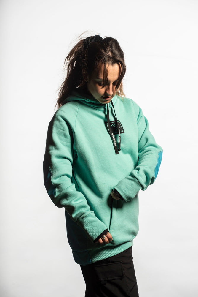 Load image into Gallery viewer, snowboarding hoodie mint