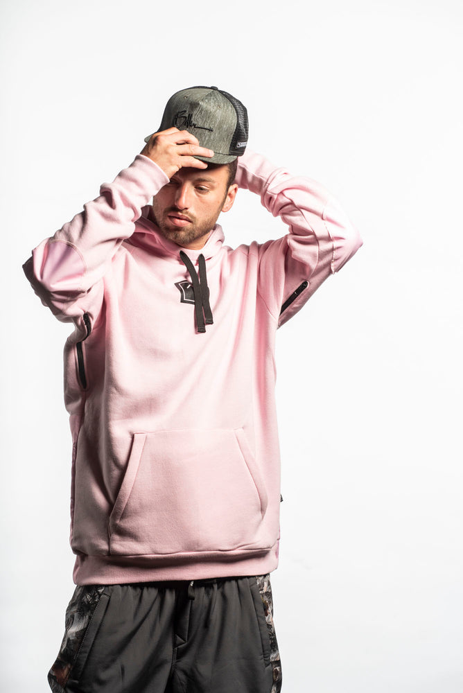 Load image into Gallery viewer, pink snowboarding hoodie