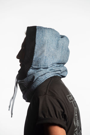 Load image into Gallery viewer, snowboard facemask denim