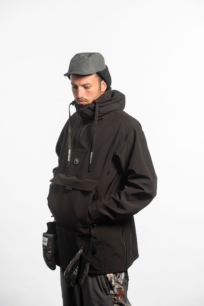 Load image into Gallery viewer, technical snowboarding jacket black