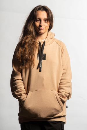 Load image into Gallery viewer, winter snowboarding hoodie tan