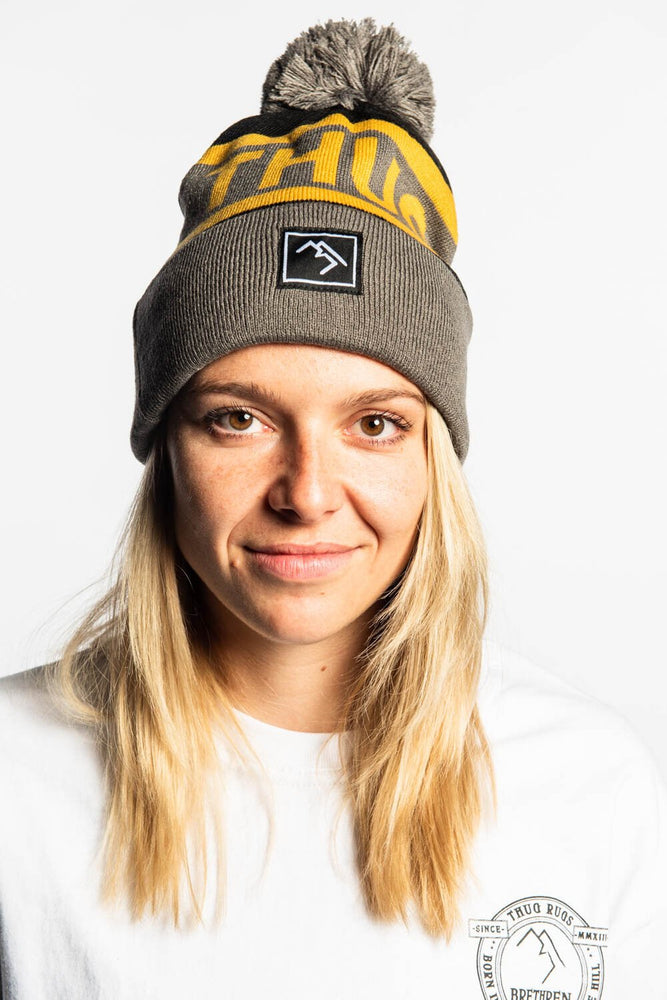 Bobble Hat - Black and Gold - brethrenapparel