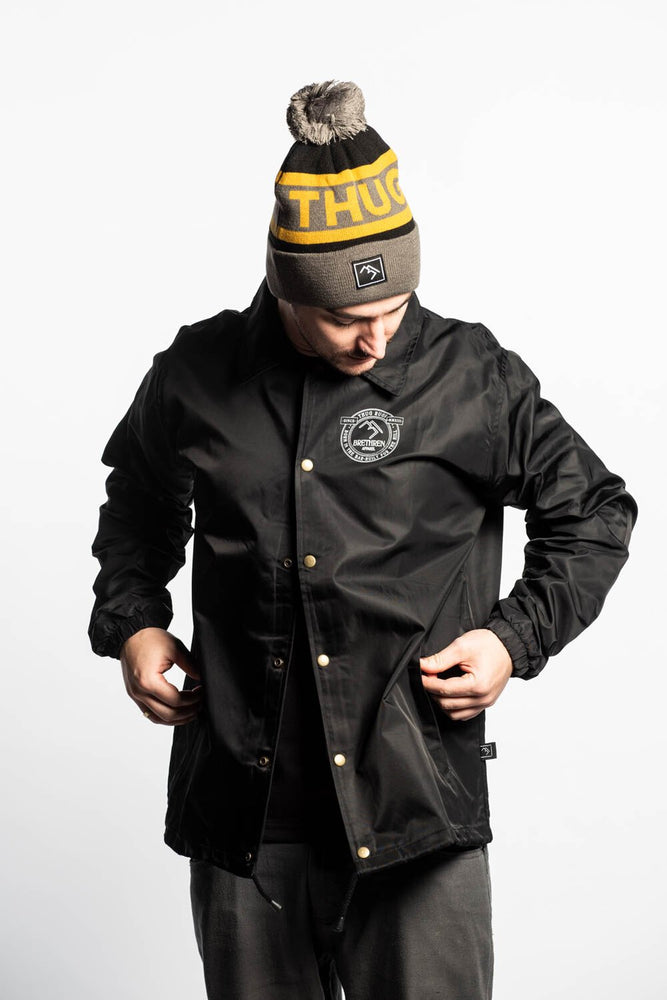 Load image into Gallery viewer, Coach Jacket - Black - brethrenapparel