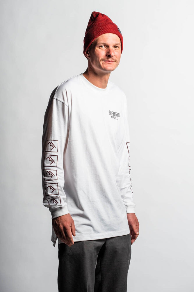Brand Long sleeve - White - brethrenapparel