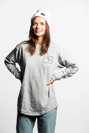 Load image into Gallery viewer, Stamp Longsleeve Tee - Grey - brethrenapparel