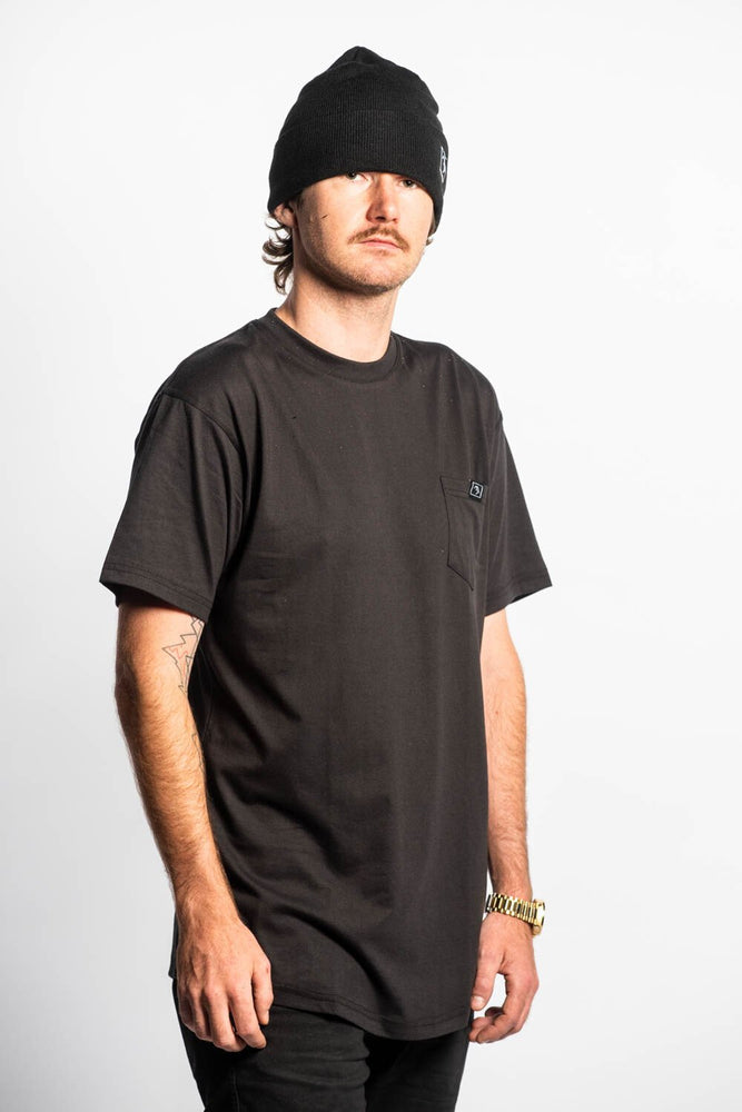 Pocket Tee - Black - brethrenapparel