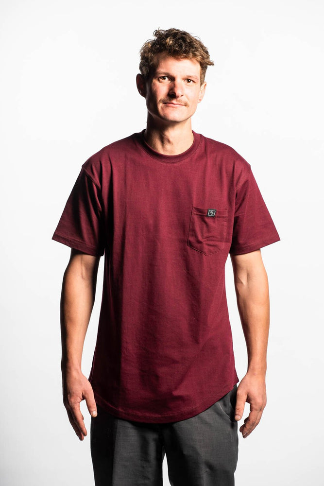 Pocket Tee - Maroon - brethrenapparel
