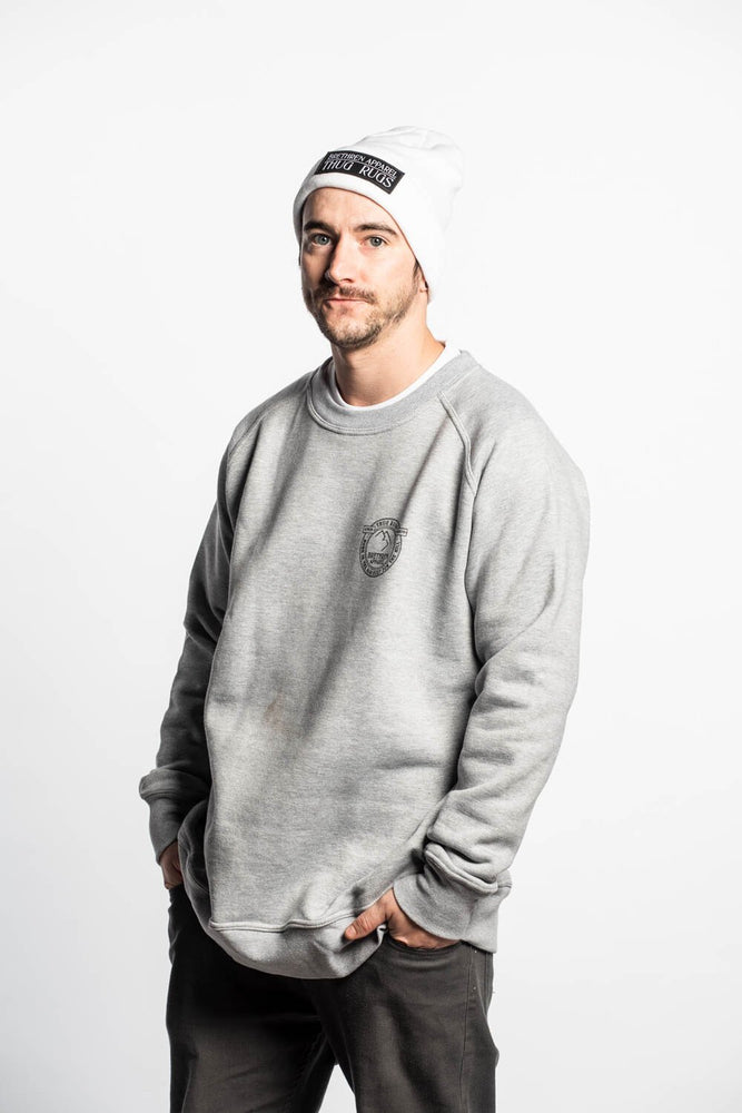 Plaque Crewneck - Grey - brethrenapparel