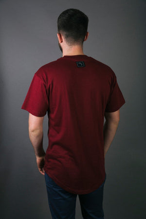 Load image into Gallery viewer, Hollow Tee - Maroon - brethrenapparel