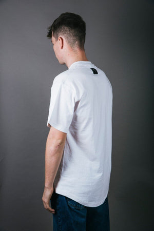 Load image into Gallery viewer, Badge Tee - White - brethrenapparel