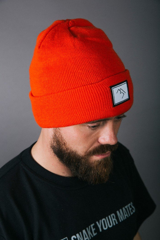 Patch Beanie - Orange - brethrenapparel