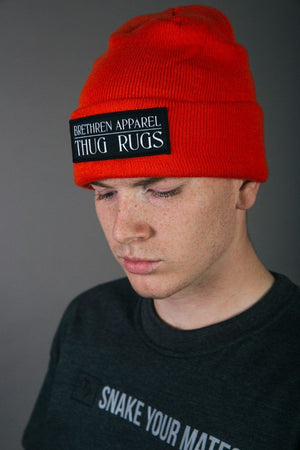 Laden Sie das Bild in den Galerie-Viewer, Thug Rugs Beanie - Orange - brethrenapparel