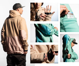 Load image into Gallery viewer, technical snowboarding hoodie