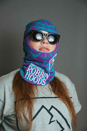 Laden Sie das Bild in den Galerie-Viewer, Purple snowboarding balaclava
