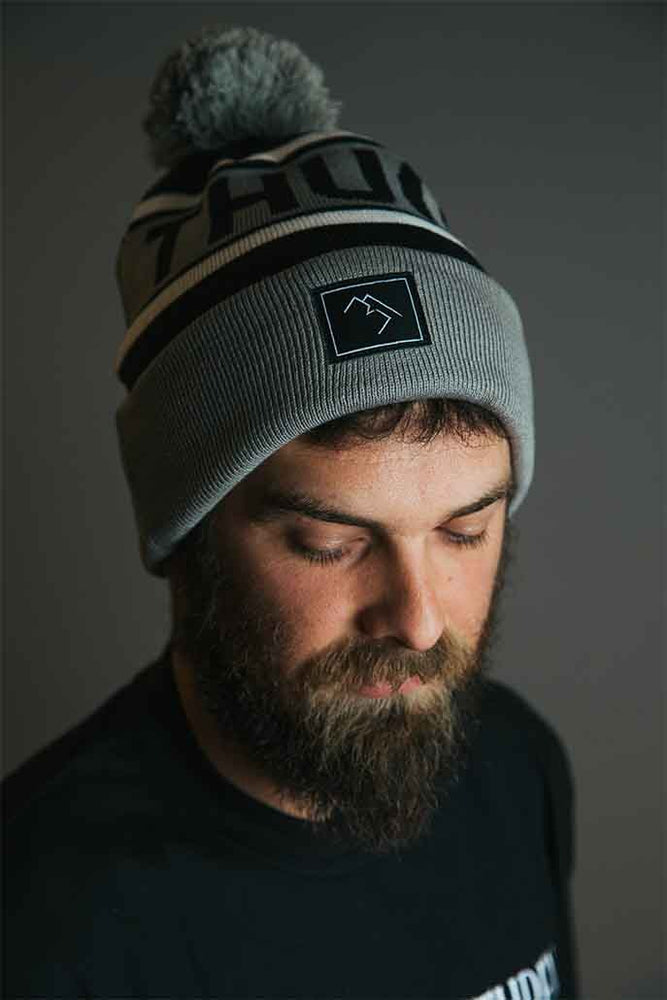 Bobble Hat - Black and Grey - brethrenapparel