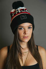 Bobble Hat - Red and Black - brethrenapparel