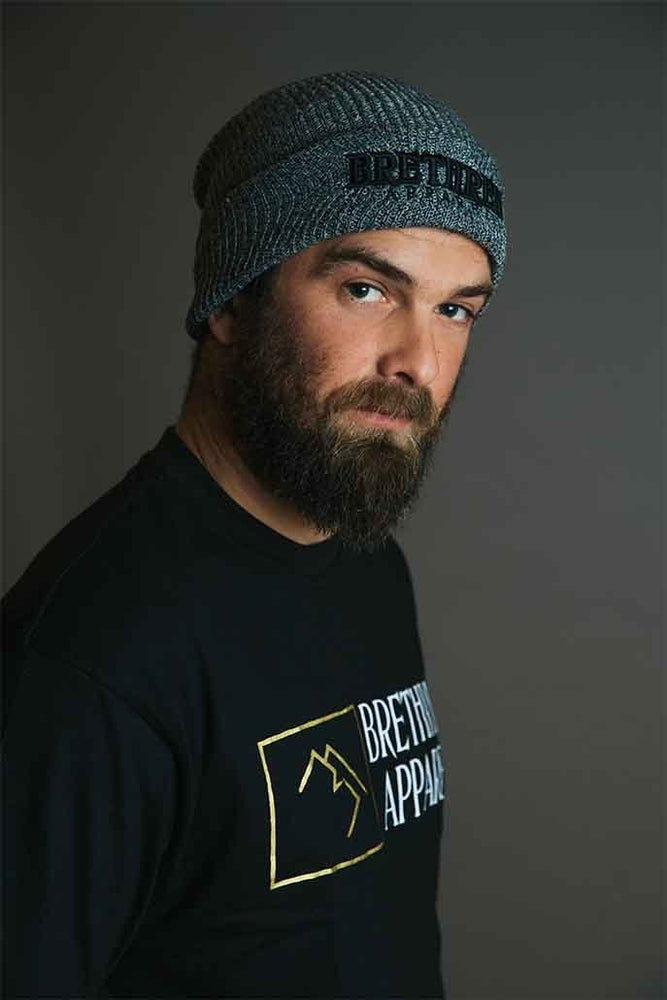 Trasher Beanie - Grey - brethrenapparel