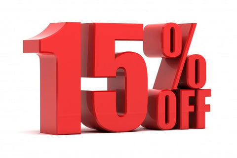 15% Off Promotion