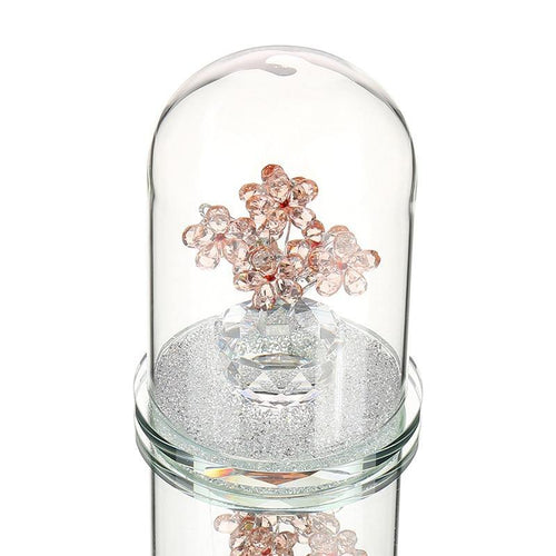 Enchanted Crystal Flowers in Terrarium Pendant