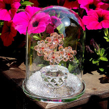 Load image into Gallery viewer, Enchanted Crystal Flowers in Terrarium Pendant